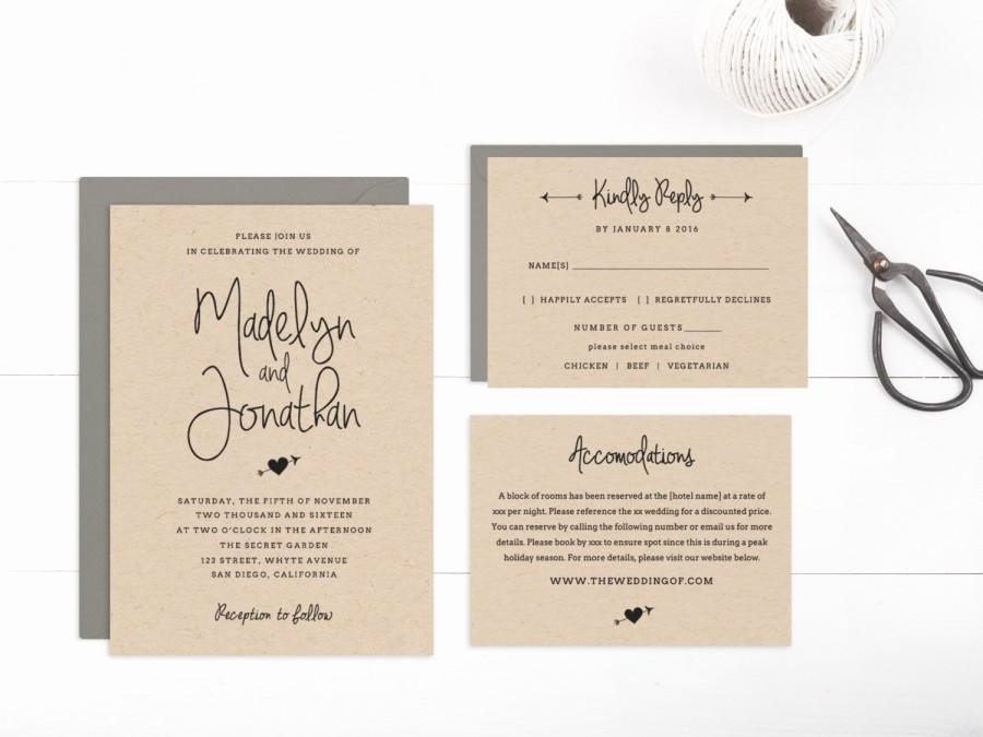 Wedding Invitation Editable Template Matik for