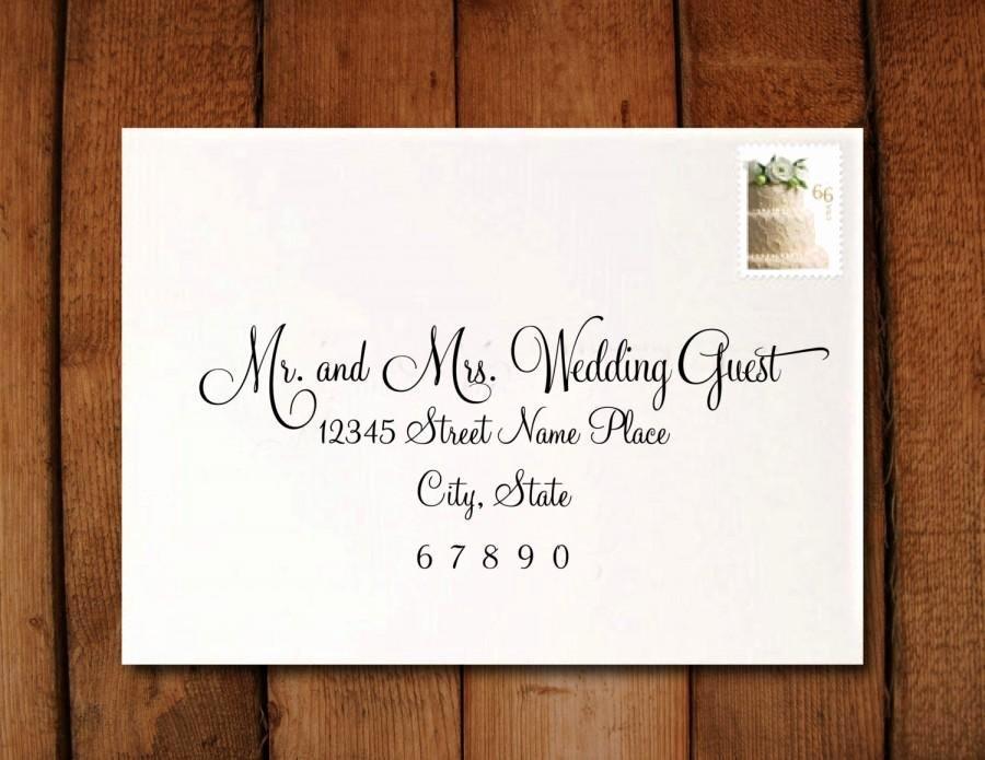 Wedding Invitation Envelope Address Template Matik for