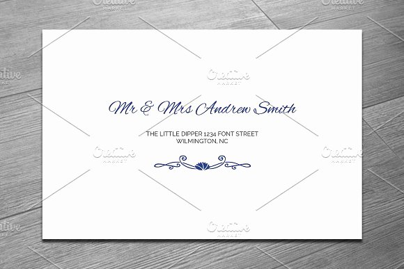 Wedding Invitation Envelope Template Beautiful Template