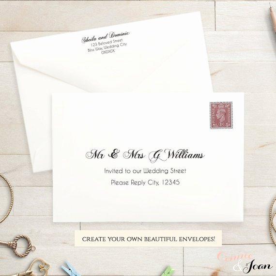 Wedding Invitation Envelope Templates Matik for