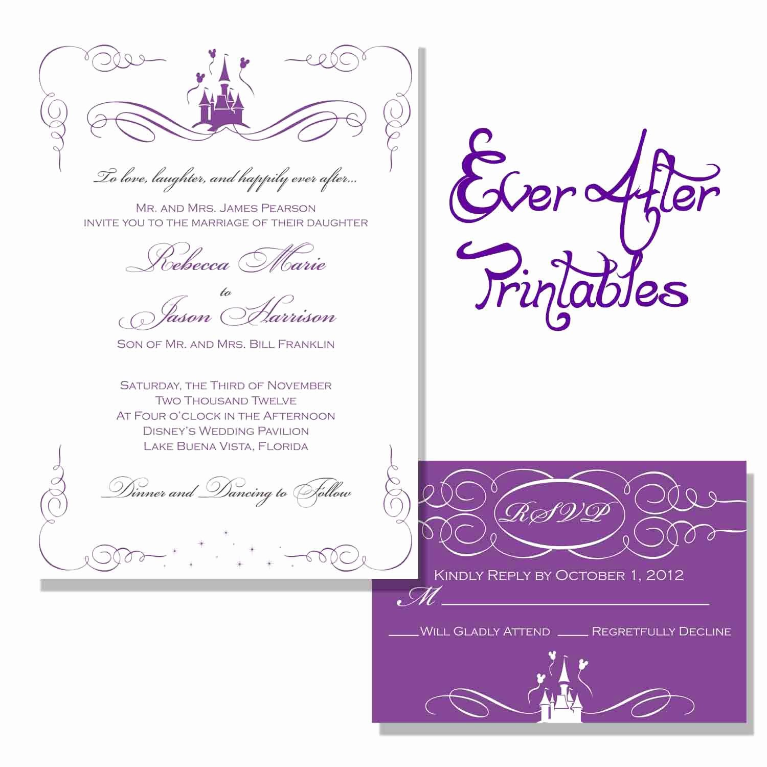 Wedding Invitation Printable Wedding Invitation