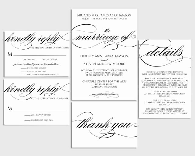 Wedding Invitation Printable Wedding Invite formal
