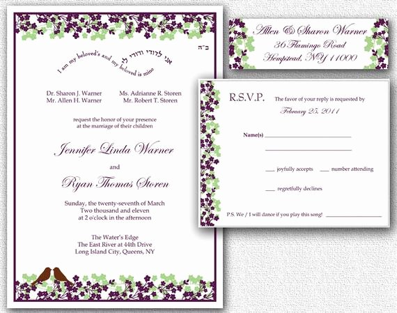Wedding Invitation Rsvp Card & Return Address by