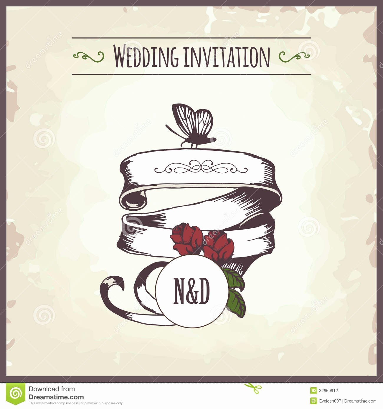 Wedding Invitation Stock Vector Image Of Frame Date