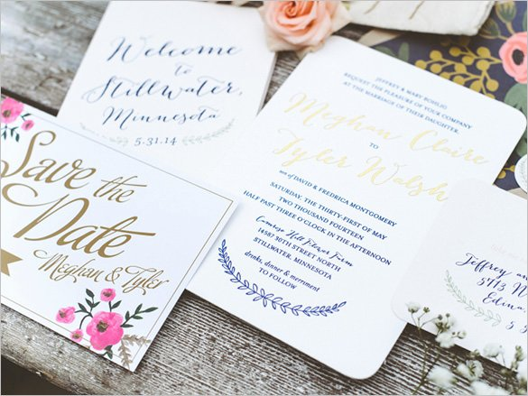Wedding Invitation Template – 71 Free Printable Word Pdf