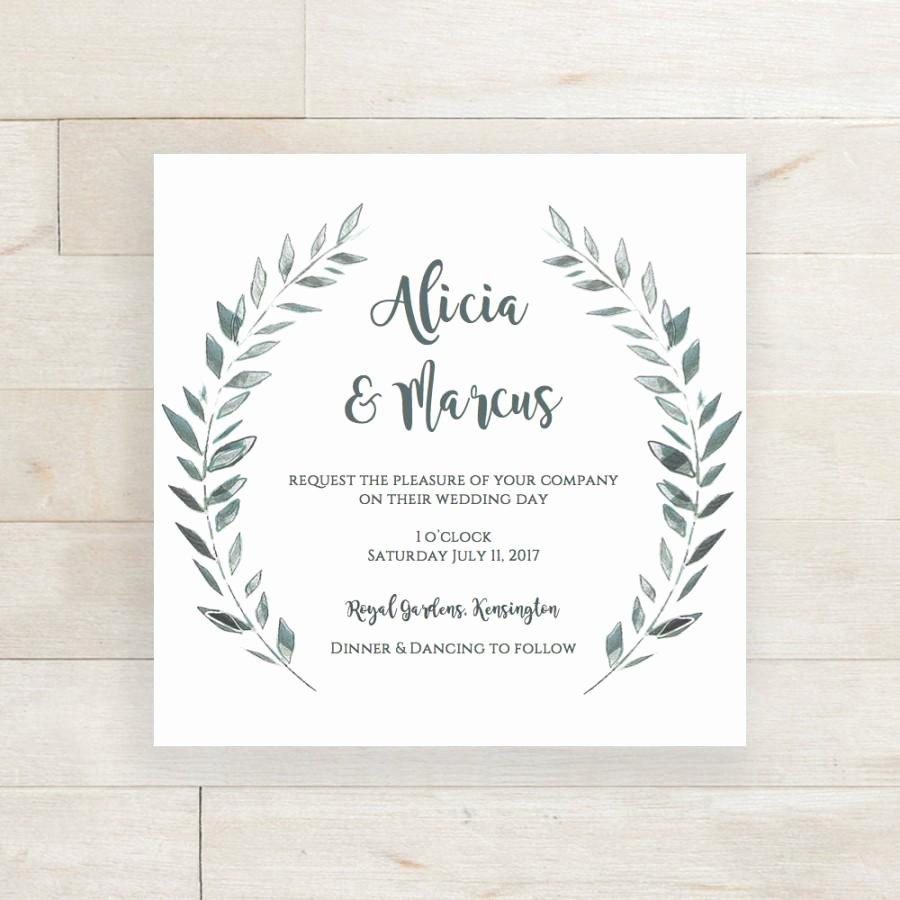 Wedding Invitation Template Download Rustic Printable