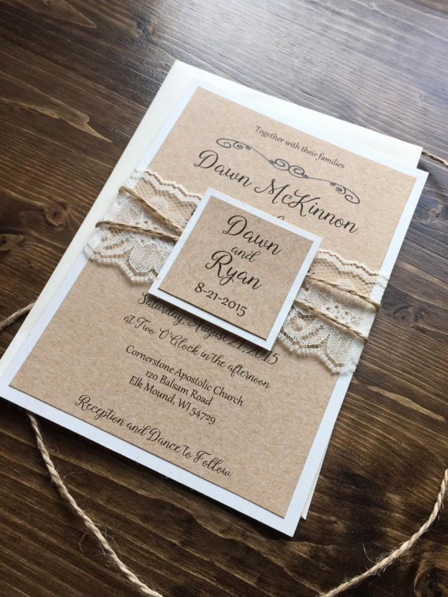 Wedding Invitation Templates Country Rustic Wedding