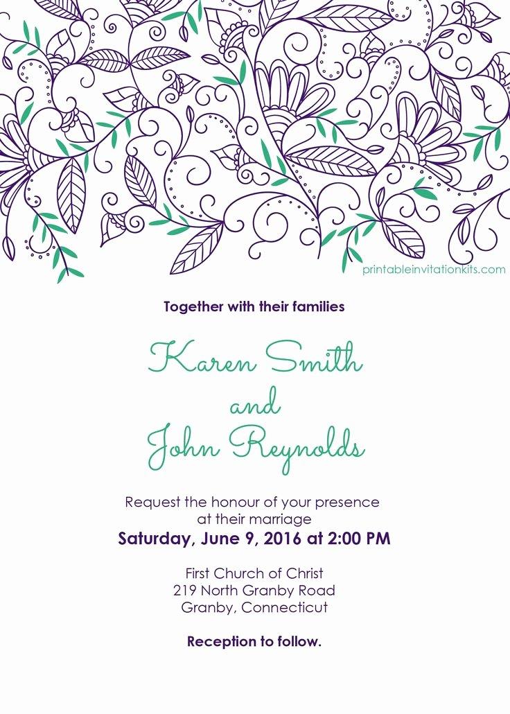 Wedding Invitation Templates Free