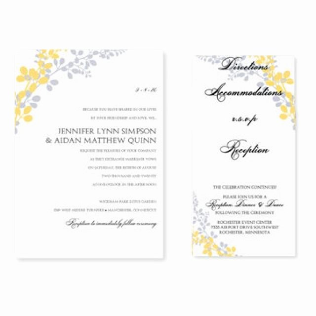 Wedding Invitation Templates Microsoft Word