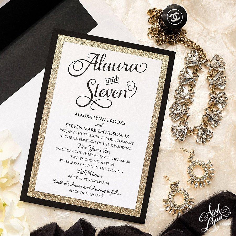 Wedding Invitation Templates New Years Eve Wedding
