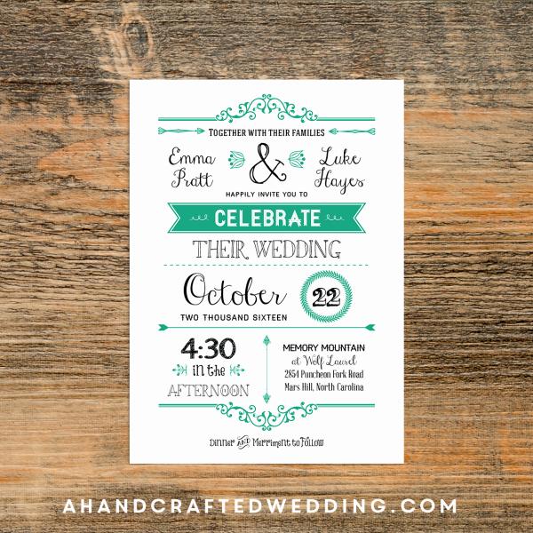Wedding Invitation Templates Rustic Wedding Invitation