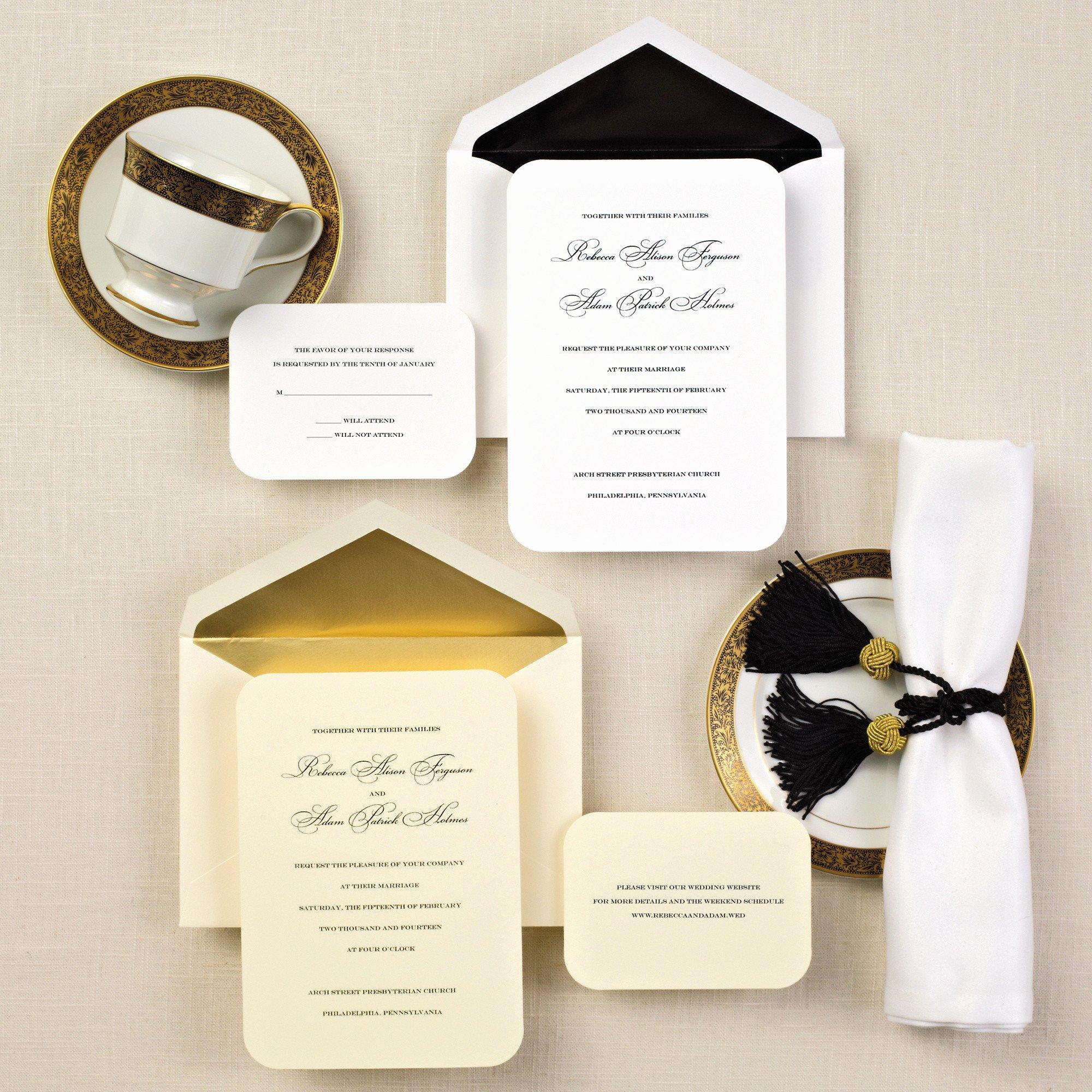 Wedding Invitation Templates Simple Elegant Wedding
