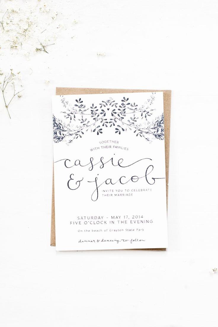 Wedding Invitation Templates Simple Wedding Invitations