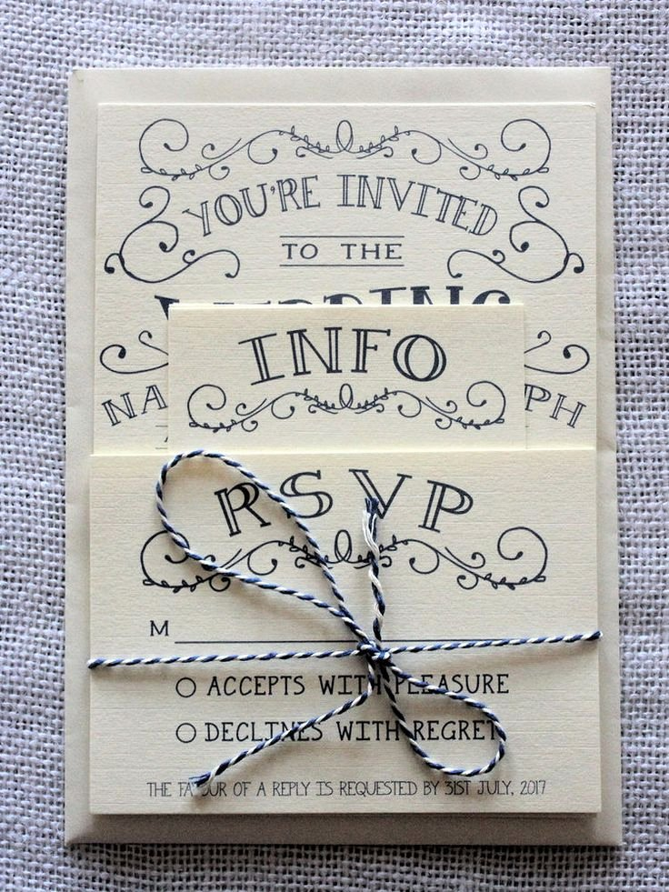Wedding Invitation Templates Vintage Wedding Invitations