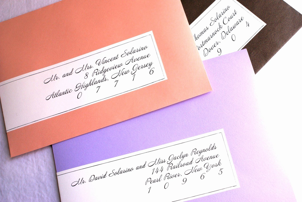 wedding invitation address labels