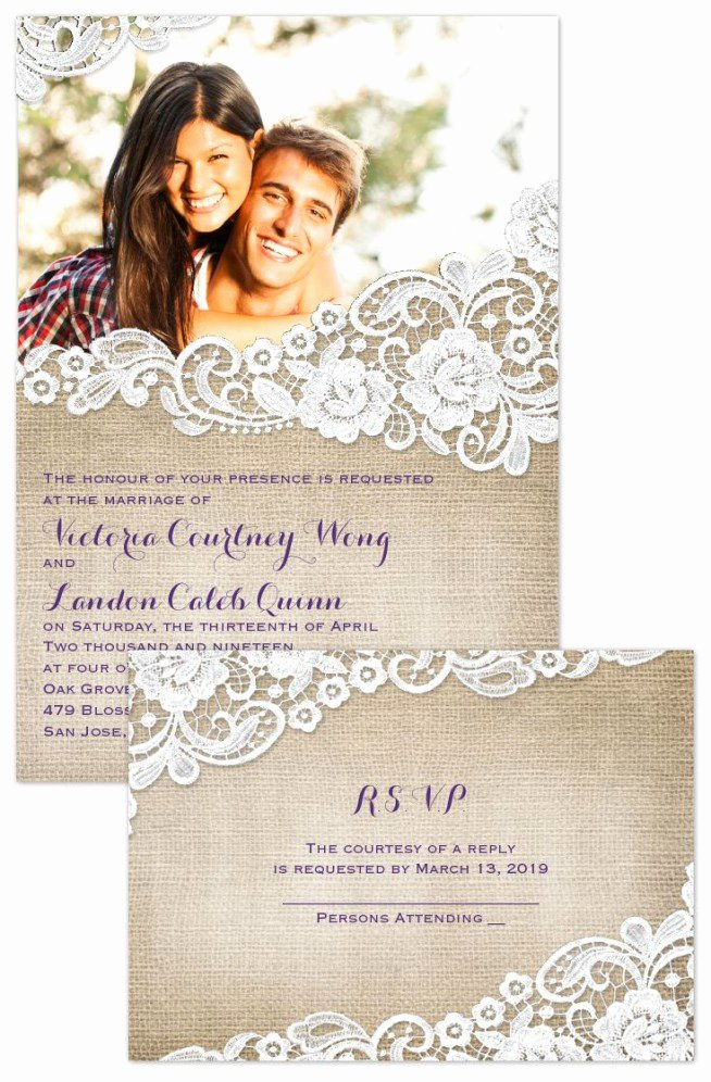 Wedding Invitation Templates Wedding Invitation with Photo
