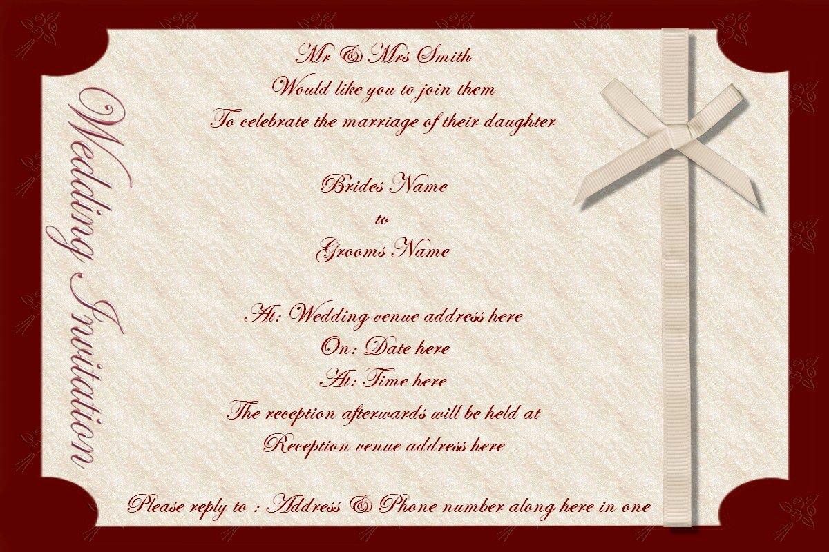 Wedding Invitation Wedding Invite Templates Superb
