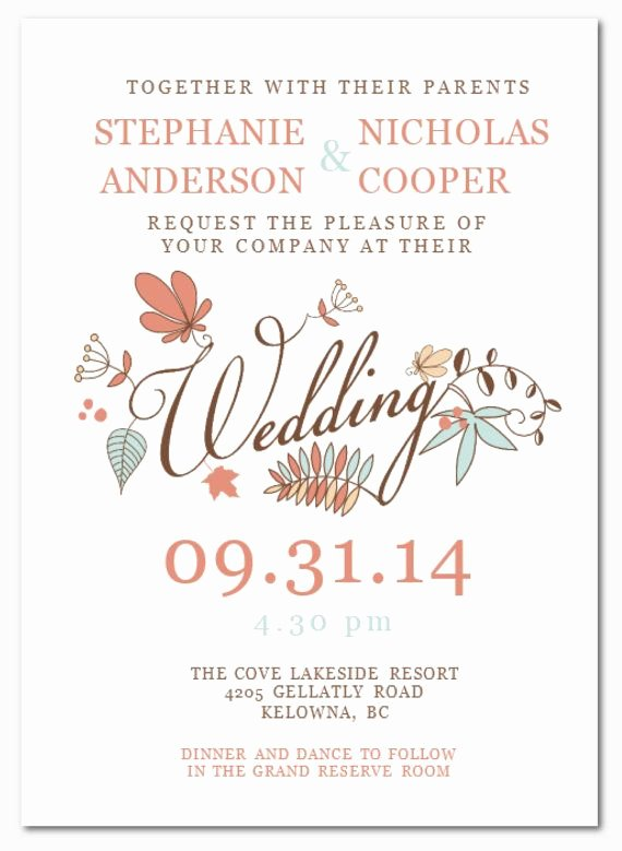 Wedding Invitation Wording Diy Wedding Invitation
