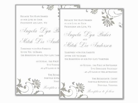 Wedding Invitation Wording Microsoft Fice Word Wedding