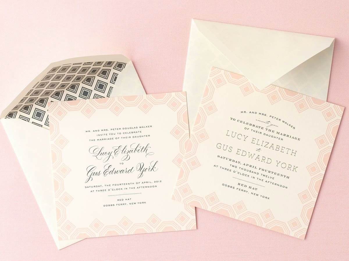 standard wedding invitation wording examples