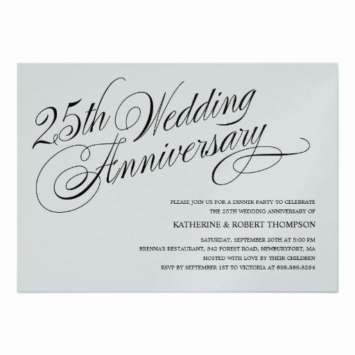 Wedding Invitation Wording Silver Wedding Anniversary