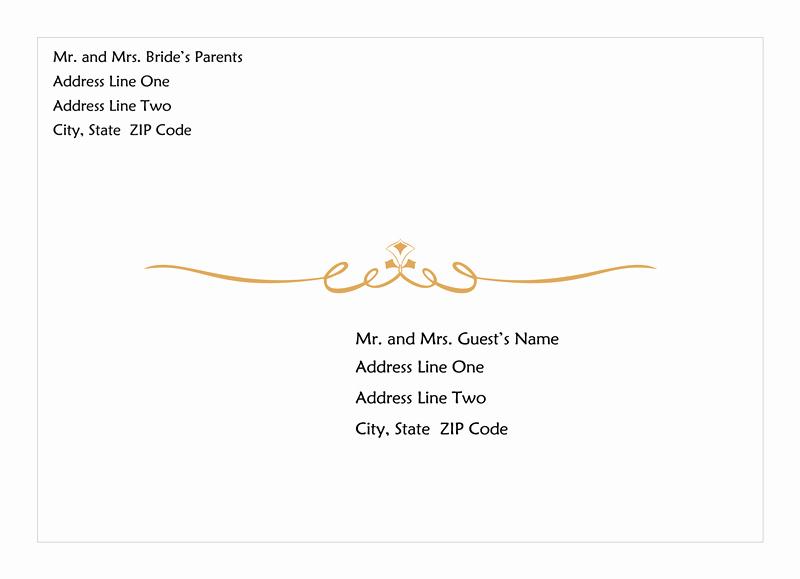Wedding Invitation Wording Wedding Invitation Envelope