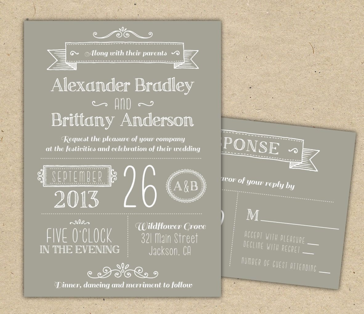 Wedding Invitation Wording Wedding Invitation Template Modern