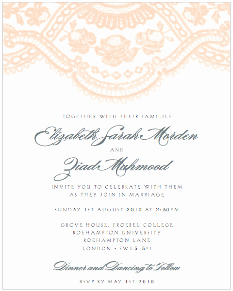 Wedding Invitation You are Cordially Invited You are