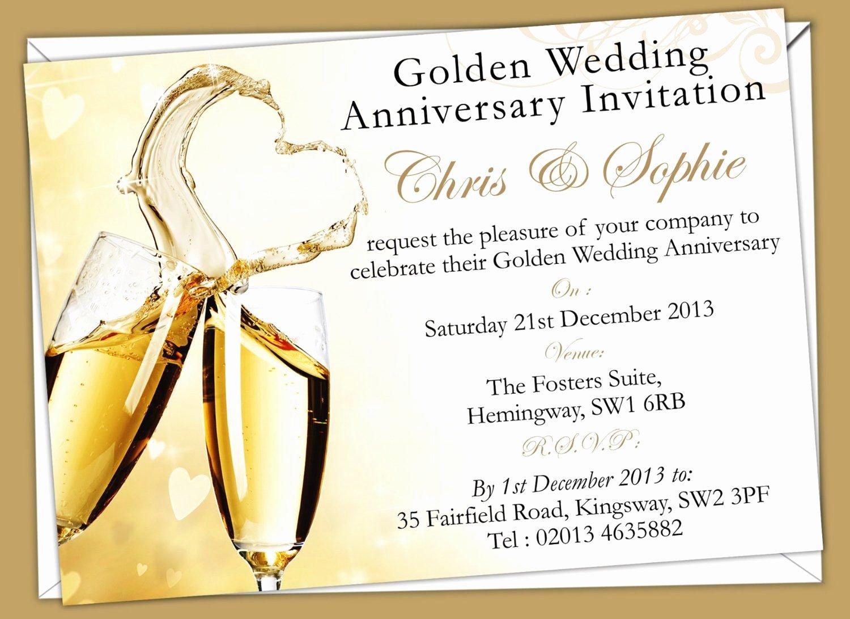 Wedding Invitations Golden Anniversary Invi with Templates