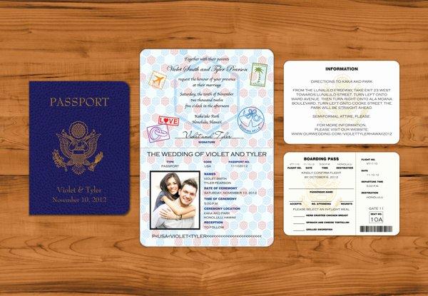Wedding Invitations Passport