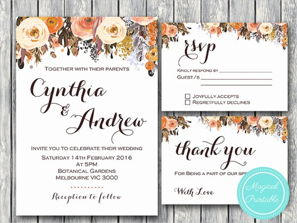 Wedding Invitations Template 9 Free Psd Vector Eps