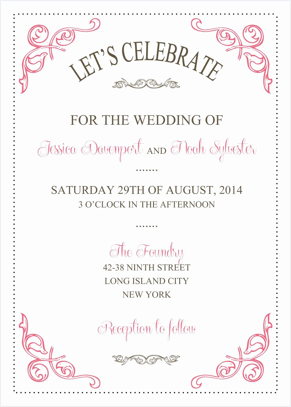 Wedding Invitations Template Wedding Invitations