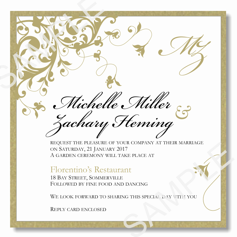Wedding Invitations Template Word