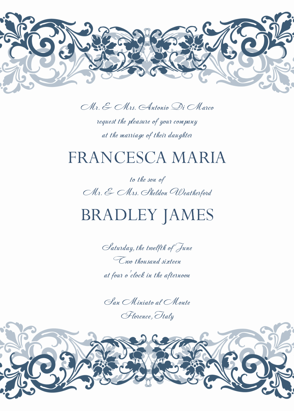 Wedding Invitations Templates