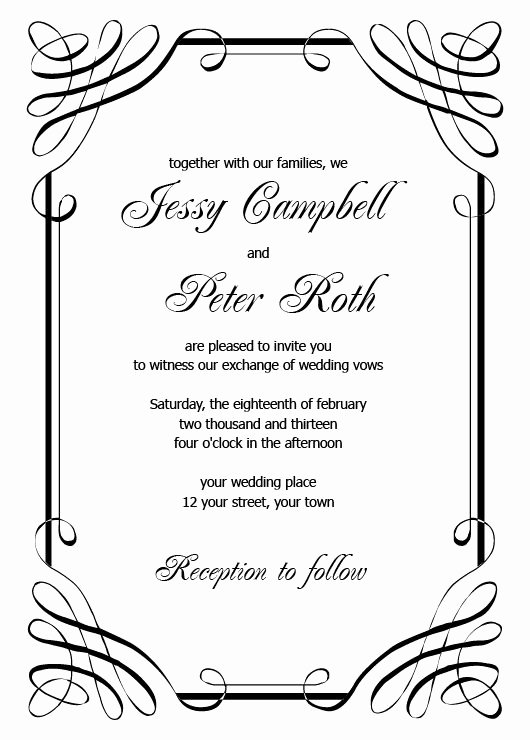 Wedding Invitations Templates Printable