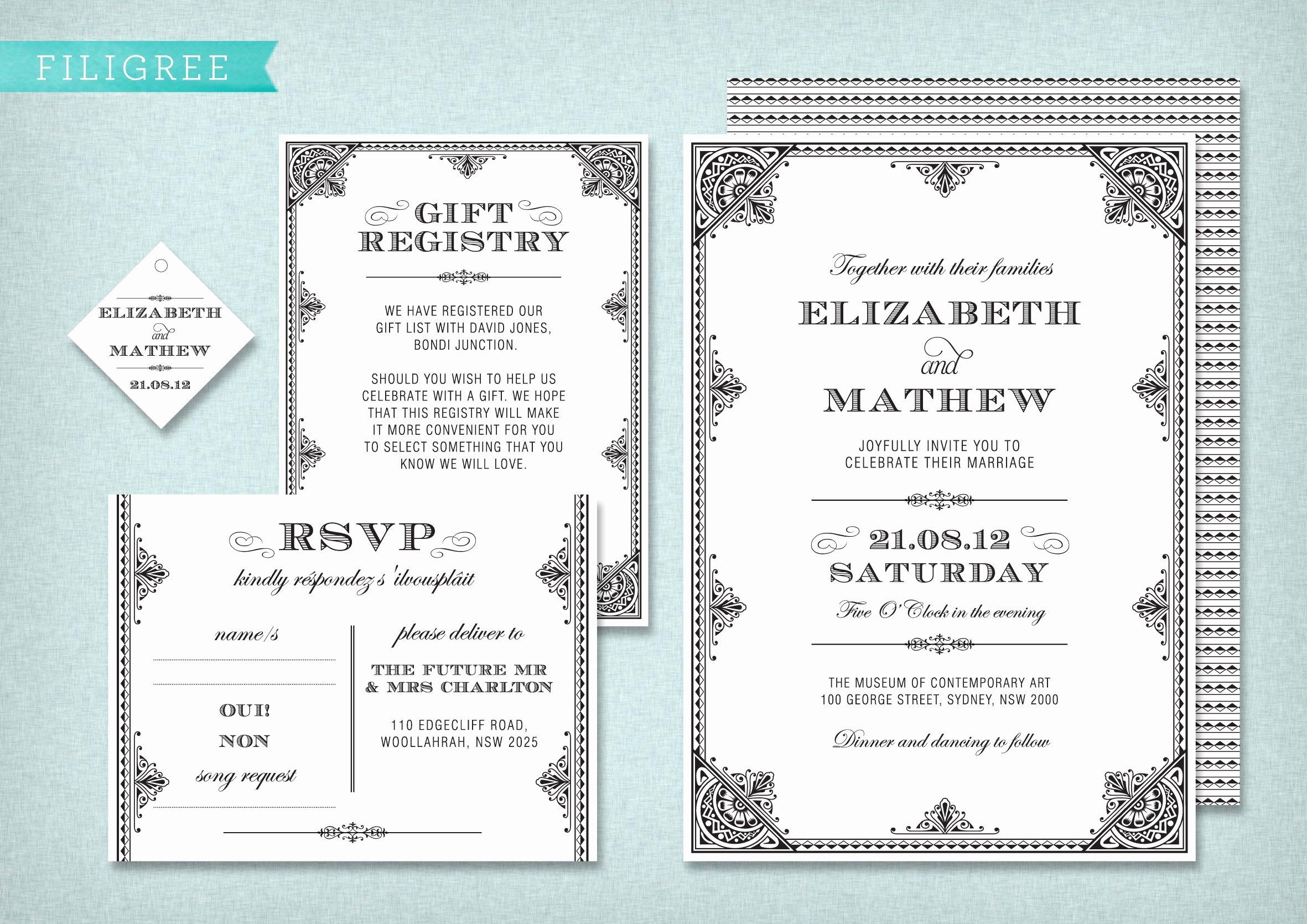 Wedding Invite Template Wedding Invitation Templates
