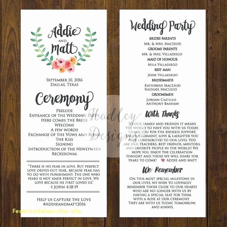Wedding Line Up Template – Danielmelofo
