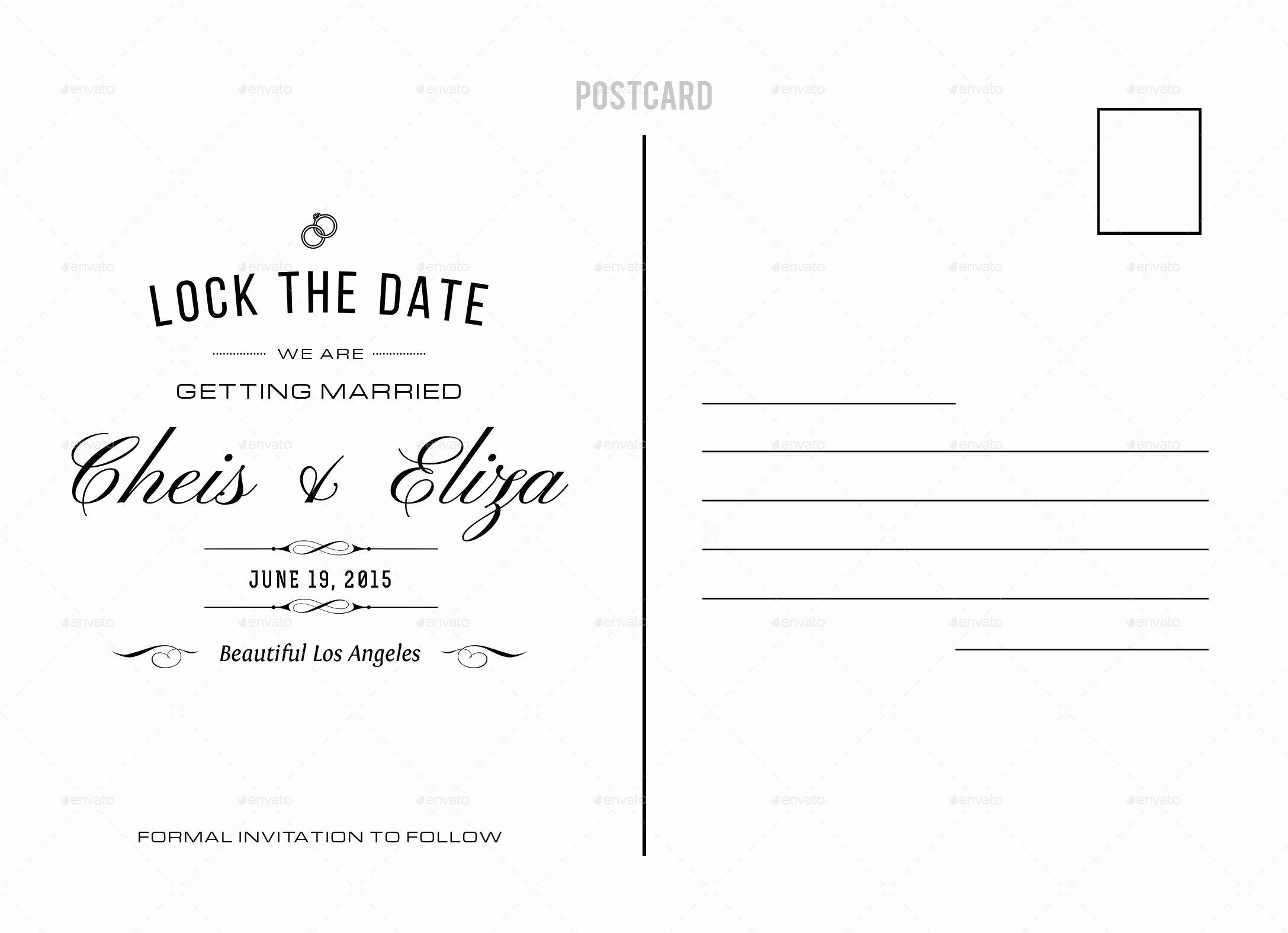 Wedding Lock the Date Postcard by Nishamehta