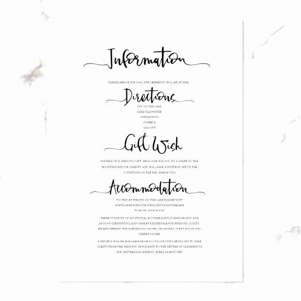 Wedding Menu Template Printable Black Calligraphy Style