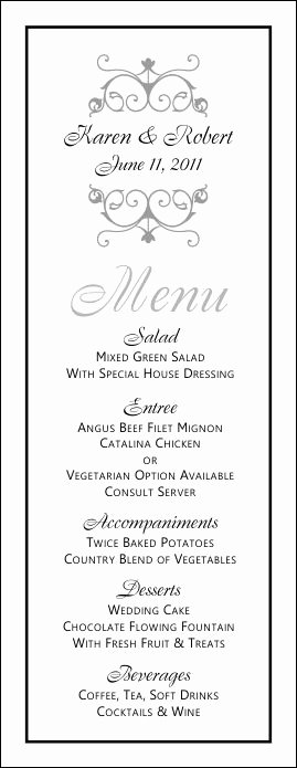 Wedding Menu Templates