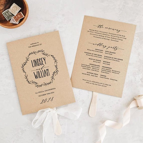 wedding order service wording template