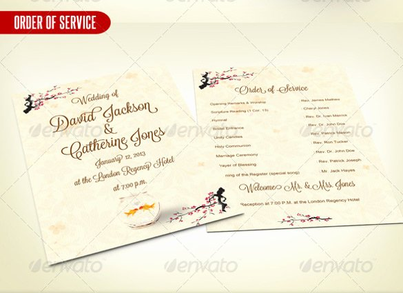 Wedding order Template – 38 Free Word Pdf Psd Vector