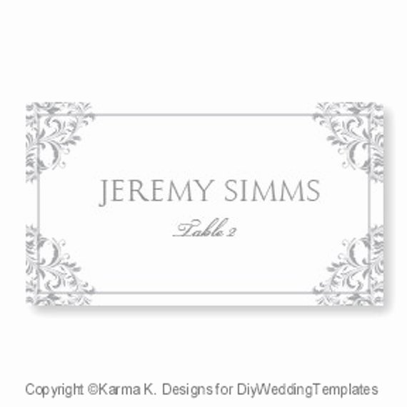 Wedding Place Card Template Download by Diyweddingtemplates