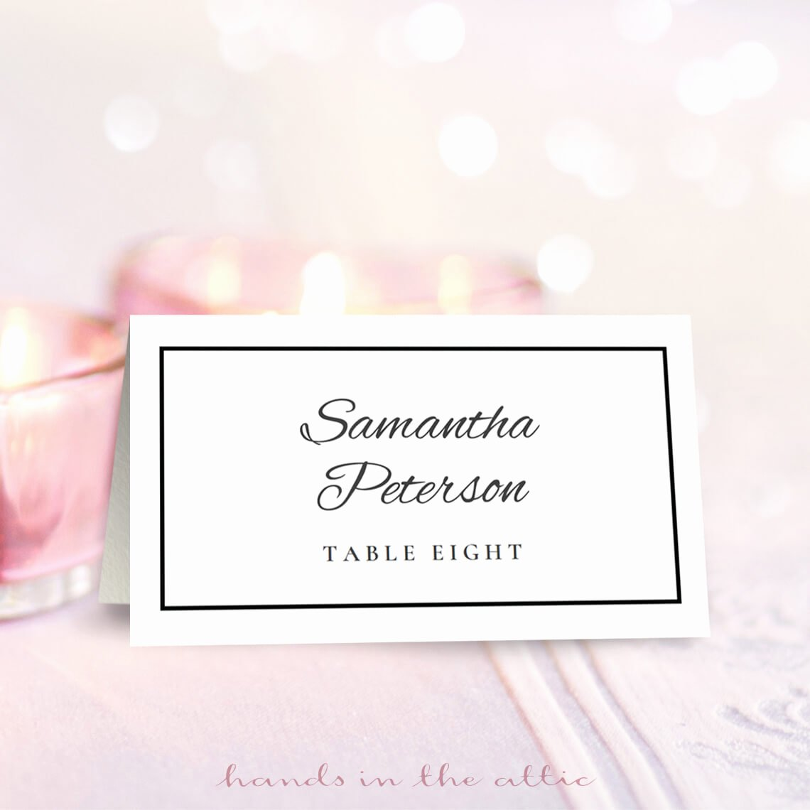 Wedding Place Card Template Free Download