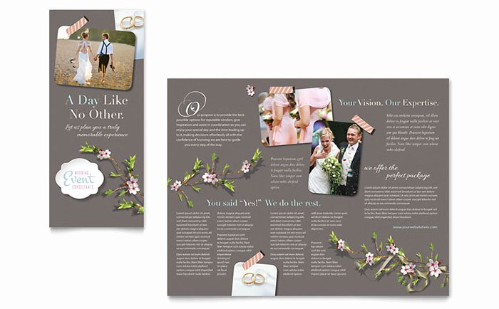 Wedding Planner Brochure Template Design