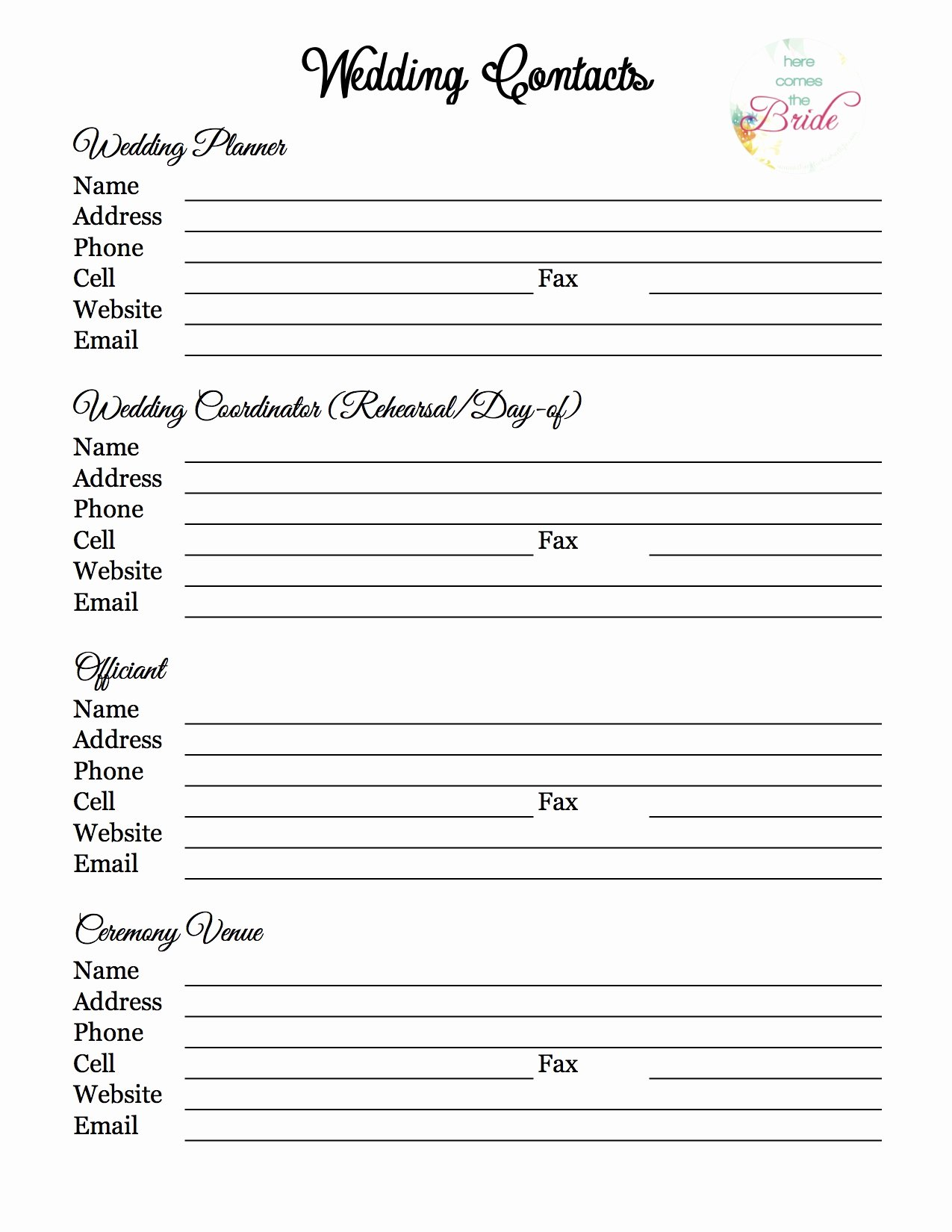 Wedding Planner with Free Printables – the Refurbished Life