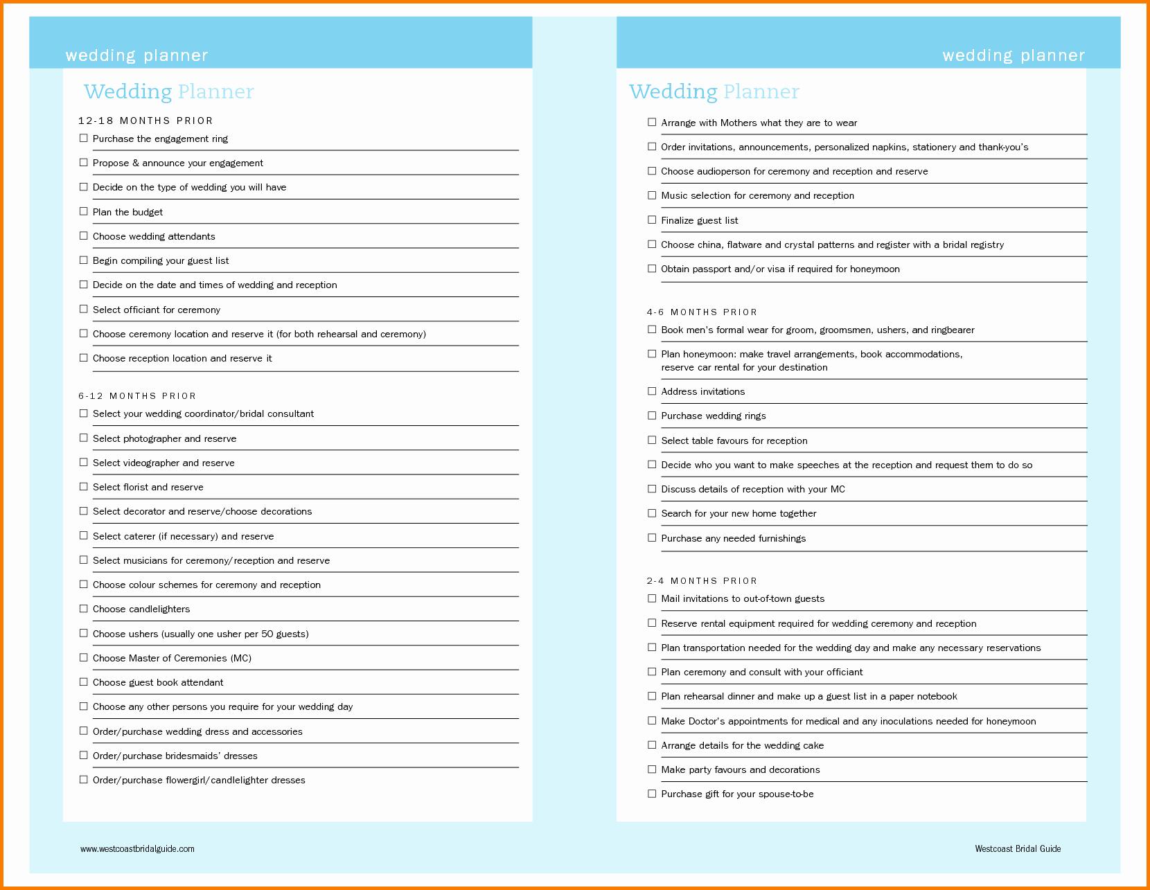 Wedding Planning Checklist Template Driverlayer Search