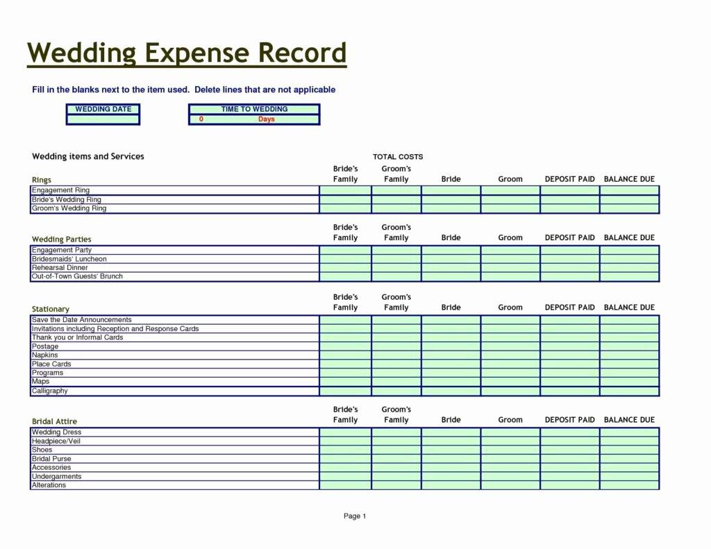 Wedding Planning Spreadsheet Template event Planning