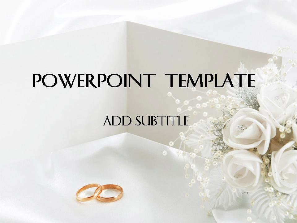 Wedding Powerpoint Template 1 แจก Powerpoint Template สวยๆ