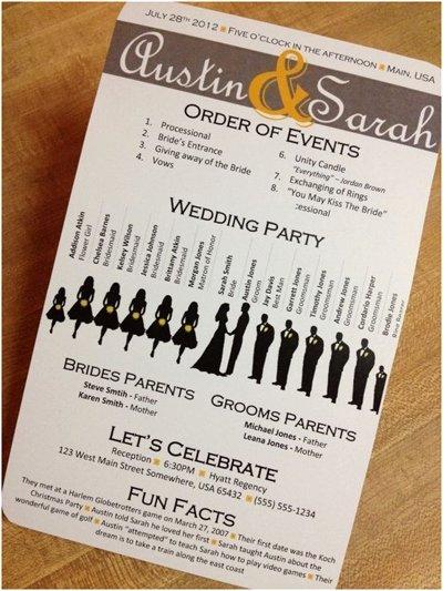 Wedding Program 6
